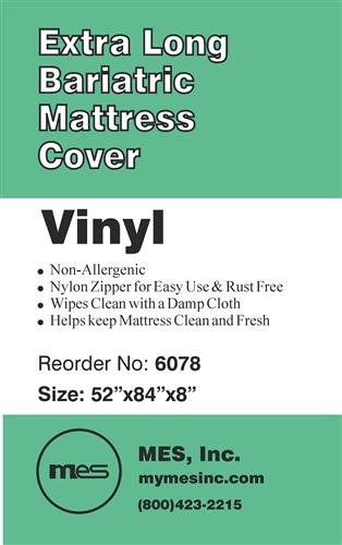6078 Zippered Extra Long <b>Bariatric</b> Mattress Cover, 6