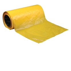 7083 Yellow Equipment Cover, 28 x 22 x 56 inches, 50/Roll