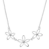 Flower Necklace Sterling Silver