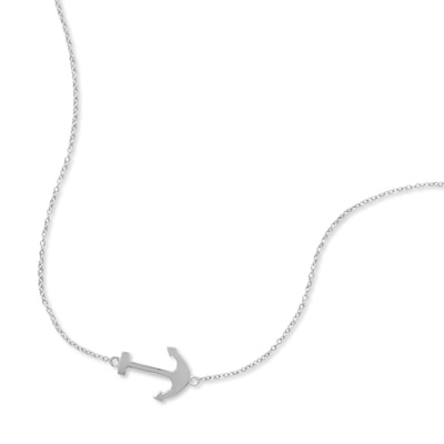 Sideways Anchor Necklace