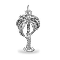 Palm Tree Charm Sterling Silver