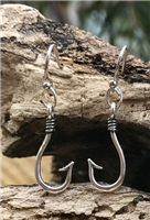 Enamel Fish Hook Earrings