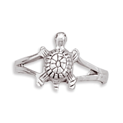 Sterling Silver Turtle Toe Ring