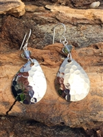 Spinner Blade and Crystal Earrings
