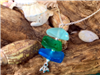 Sea Glass Bead Chip Necklace