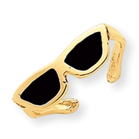 14kt Sunglasses Toe Ring