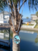Larimar Palm Tree Pendant