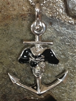 Pirate Skull and Anchor Pendant