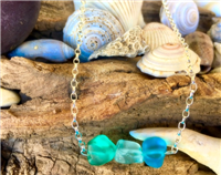 Sea Glass Nugget Bead Necklace