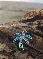 Abalone Shell Palm Tree Pendant