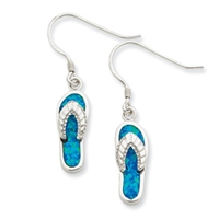 Sterling Silver Flip Flop Earrings