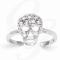Sugar Skull Toe Ring