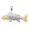 Gold and Silver Redfish Pendant