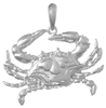 Sterling Silver Blue Crab Pendant (Large)