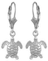 Sterling Silver Sea Turtle Earrings
