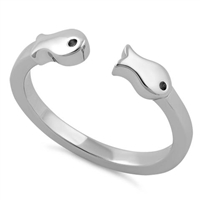 Double Fish Toe Ring