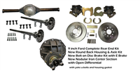 PEM HOT ROD 9 INCH REAR END KIT OPEN DIFF COMPLETE WITH  DISC BRAKES