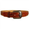 3D-Belt-Floral-Tooled-Billets-Smooth-Brown-With-Natural-Boarder