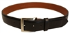 Chacon Calf Dress Buckle Men's Black Belt