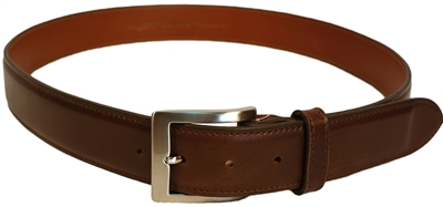 Chacon Calf Dress Buckle Men's Brown Belt