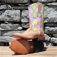 Horsepower-by-Anderson-Bean-Womens-Pink-Patchwork