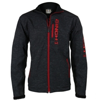 Cinch Mens Grey/Red Bonded Jacket