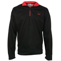 Cinch Mens Black Zip Bonded Rib Pullover Sweater