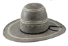 "Rodeo King Black and White Straw 4 1/4"" Brim"