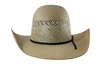"Rodeo King Jute Open Crown Straw 4 1/4"" Brim"