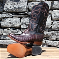 Rios of Mercedes, Mens, Chocolate Nile Crocodile Belly, Cowboy Boots, Handmade, Texas, Mercedes, Quality, Cutter Toe, Lemon wood pegs, Western, Style, Shopping, Lifestyle, Exotic, South Texas