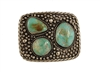 Rectangle Turquoise 3 Stone Buckle