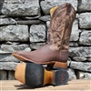 Rod Patrick Sanded Chocolate Shark Square Toe Boots