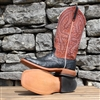 Anderson Bean Mens Black Full Quill Ostrich Rust Top