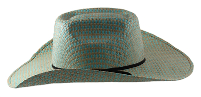 "Rodeo King Vegas Turquoise Straw 4 1/4"" Brim"