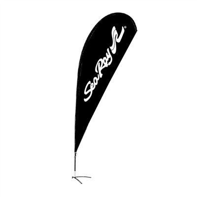 15-Foot Teardrop Whip Flag - Single Sided - Black