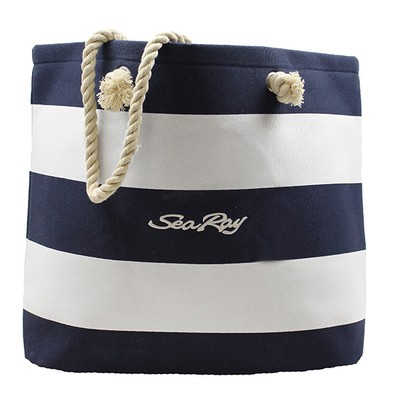 Skipper Tote Bag - Navy / White
