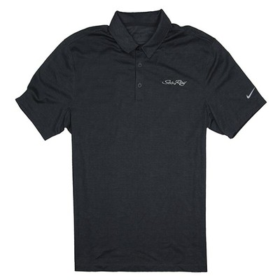 Nike Crosshatch Polo - Dark Anthracite