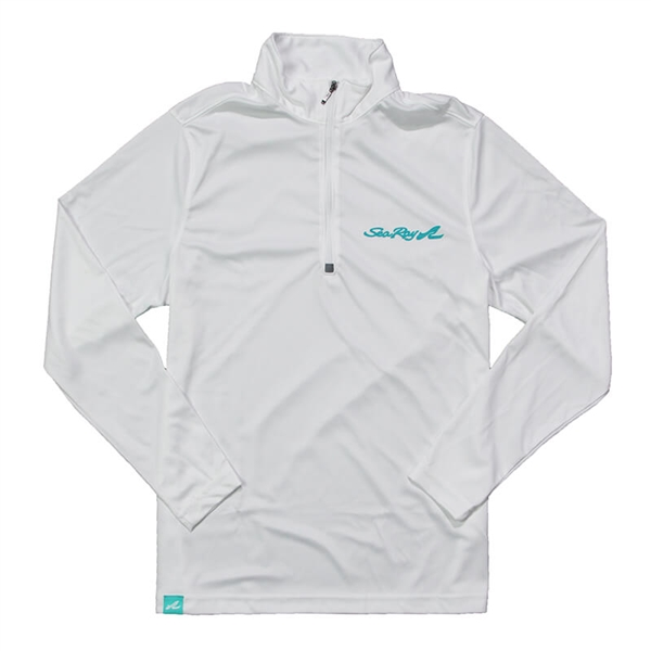 Ladies 1/4 Zip Pullover - White