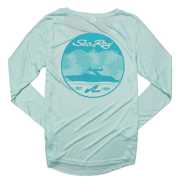Ladies LS Tropic Sun Tee - Mint Green