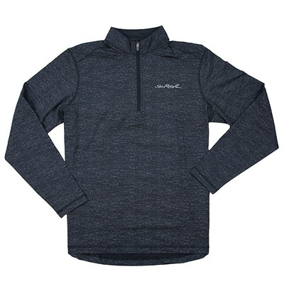 Men's Heathered 1/2 Zip Pullover - Charcoal