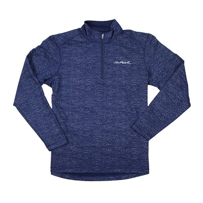 Men's Heathered 1/2 Zip Pullover - Navy