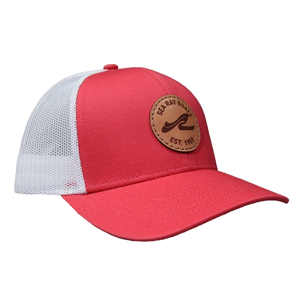 Leisure Cap - Coral / White