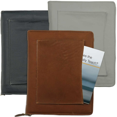 for LARGE PRINT Bible (with ZIPPER): COVER for New World Translation - with FRONT POCKET (various colors/leather & vinyl)  *fits ENGLISH edition