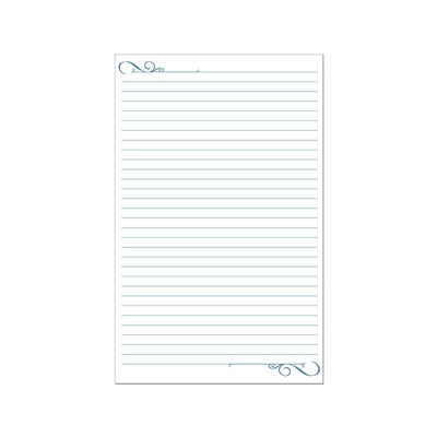 Witness with letter writing with these notepads