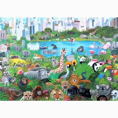 Margaret Keane Greeting Card - It's a Jungle Out There