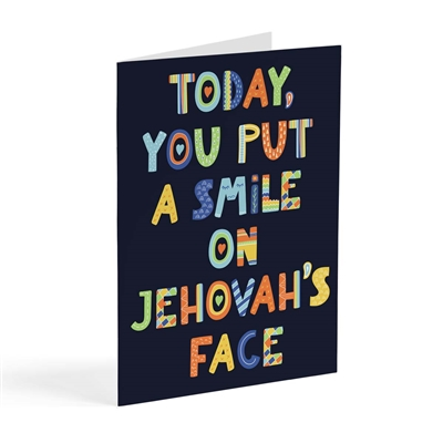 You Put a Smile on Jehovah's Face Today - JW Spiritual Goals Card