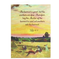 Greeting card to encourage a pioneer based on Luke 10:2