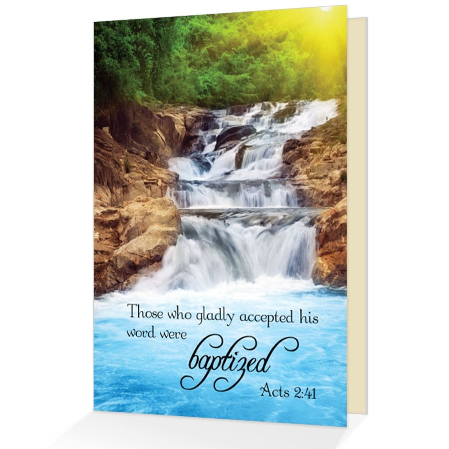 Baptism greeting card scriptural greeting card view larger photo email m4hsunfo