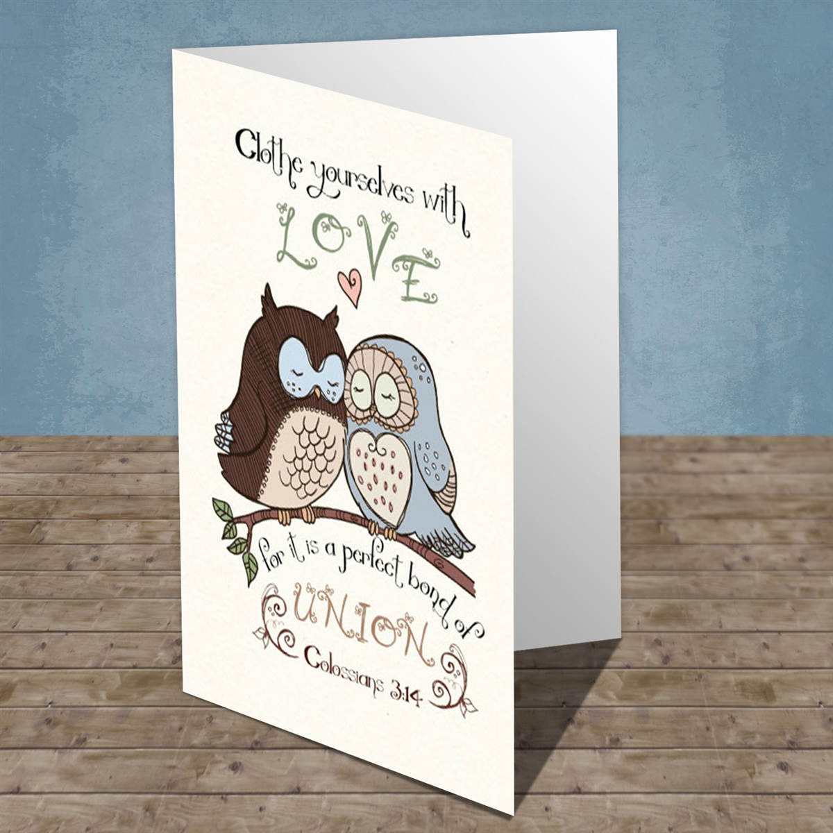 Colossians 314 Greeting Card Wedding Anniversary Card