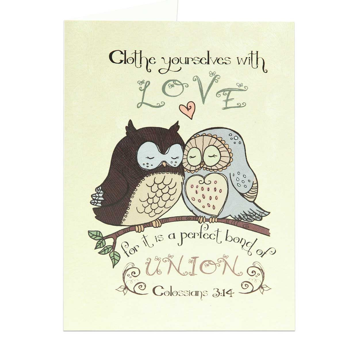 Colossians 314 Greeting Card Wedding Anniversary Card